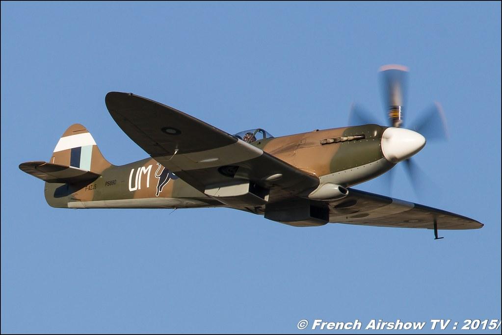 Supermarine 389 Spitfire MkXIX - F-AZJS , Feria de l'air nimes garons 2015, Meeting Aerien 2015
