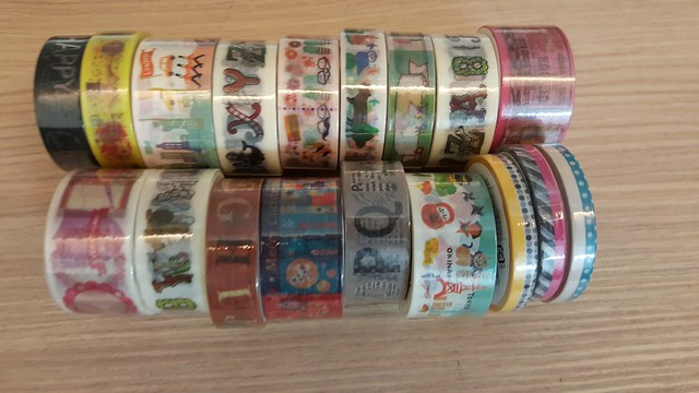 New washi tapes haul from Daiso last weekend