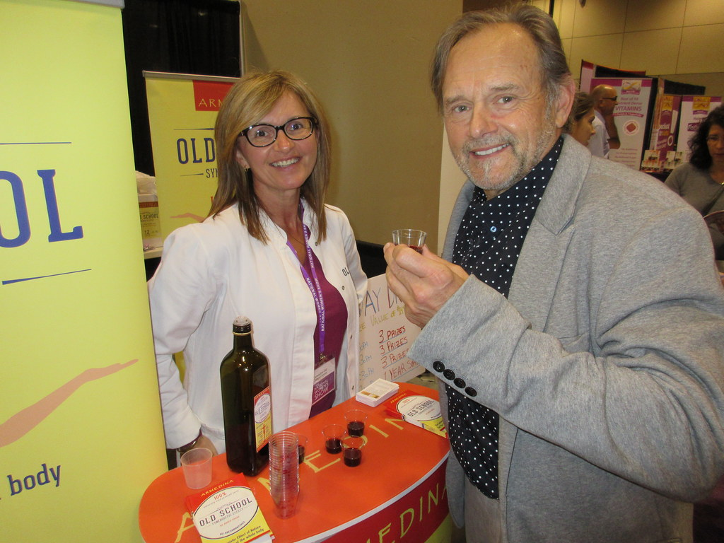 keith Jasper of Bounce Ideas consuming free samples at the 2012 National Women's Show
