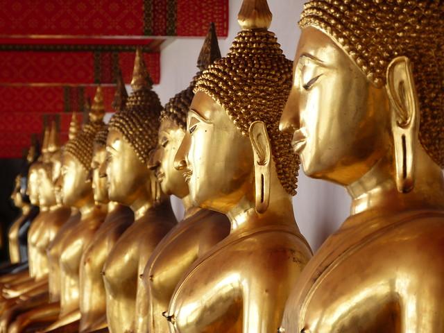 Detalle del Wat Pho en Bangkok (Tailandia)