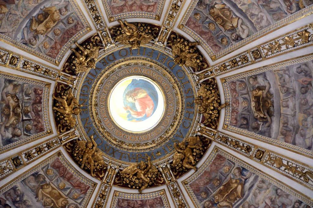 SM Maggiore - Cappella Sistina cupola | Did you know there ...