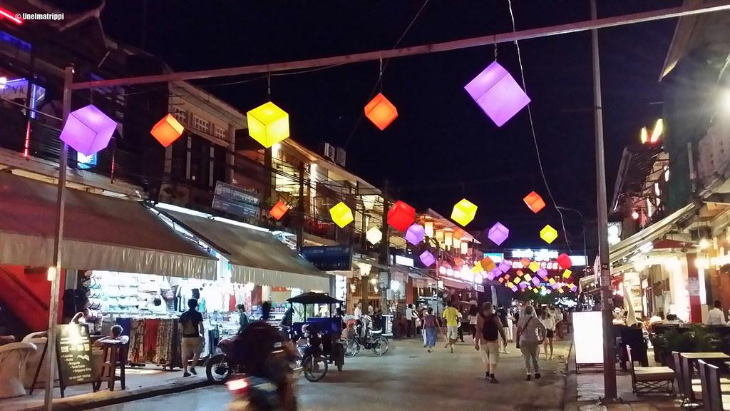 Pub Street, Siem Reap, Kambodza