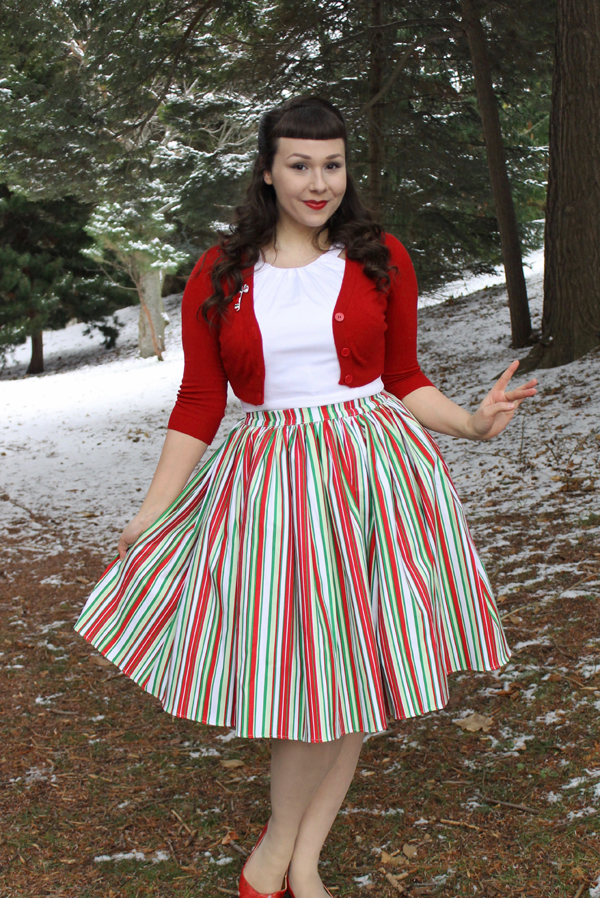 striped jenny skirt pinup girl