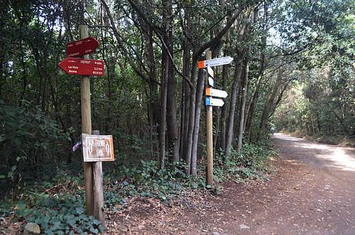 GR 131 signs, Agua Garcia, Tenerife
