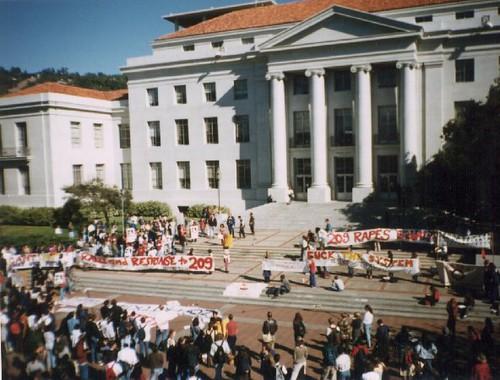 Prop 209 Protest Sproul Plaza UC Berkeley 1996-11-06