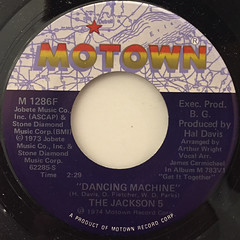THE JACKSON 5:DANCING MACHINE(LABEL SIDE-A)