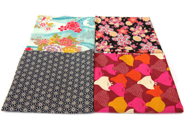 Fat quarters of Japanese fabric from Japan Crafts