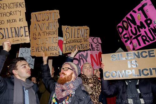 No Muslim Ban, No Wall  - London demo 30 Jan 2017