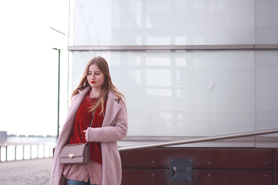 outfit rosa rot valentinstag inspiration 7 blogger 7 girls sieben styles red lips
