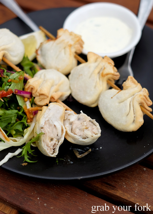 Oyster wontons at Get Shucked on Bruny Island in Tasmania