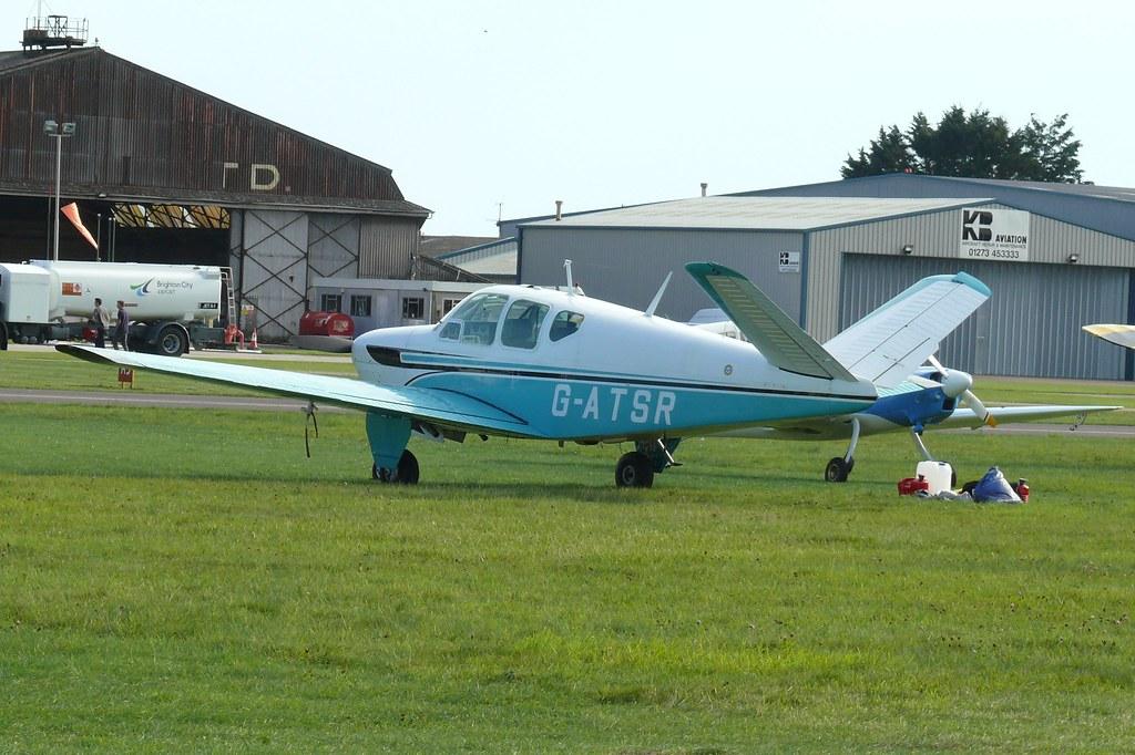 Beech M35 Bonanza (G-ATSR) | The Beechcraft Bonanza is an Am