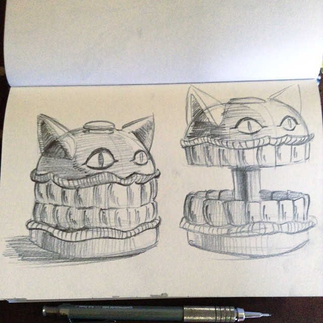 A Cheshire Cat Toy, or burger  I was noodling around for a