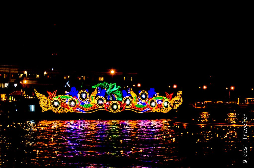 Decorated Barge Loi Krathong Thailand