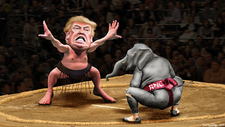Yokozuna Trump vs. The RNC | by DonkeyHotey