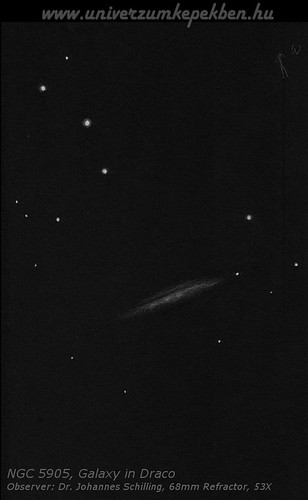NGC 5907, Galaxy in Draco - Dr Johannes Schilling, Lonsee
