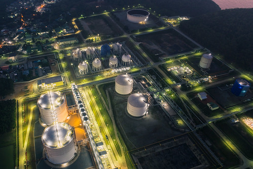 Land scape of Oil refinery plant | by anekphoto