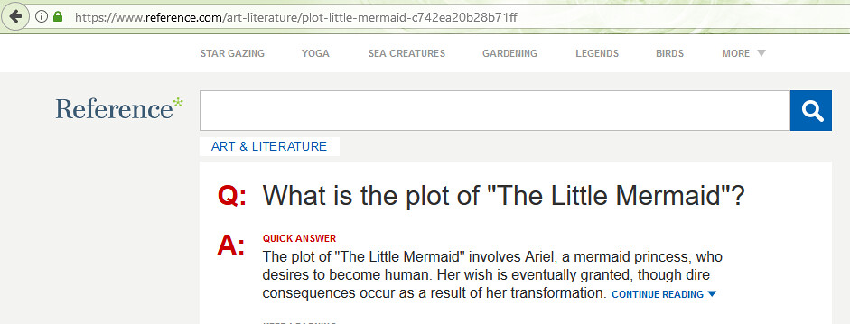 the little mermaid summary