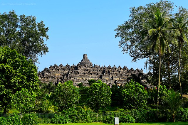 View of Borobudur Temple from Manohara Hotel