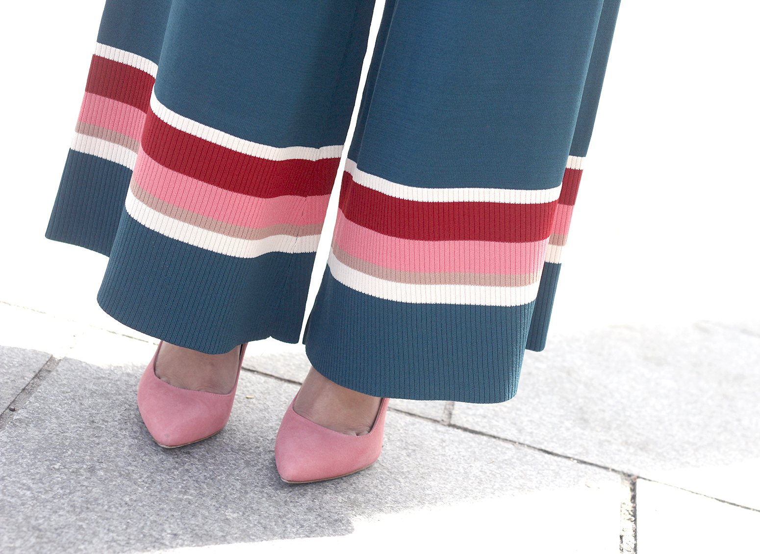 Culotte Knitted Trousers pink heels uterqüe style fashion street style accessories13