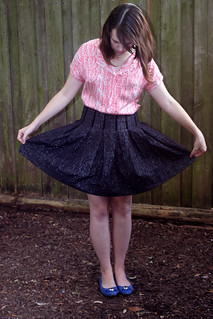 Self Drafted Box Pleat Skirt | by dixiediy