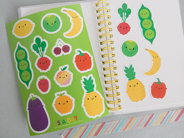 5 A Day sticker sheet