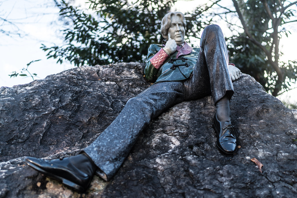 THE OSCAR WILDE INSTALLATION HAS BEEN RESTORED AND REPAIRED AND THE LAYOUT HAS BEEN CORRECTED [MERRION SQUARE DUBLIN]-124117