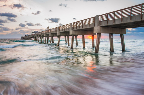Sunrise at juno beach fishing pier trung vo flickr for Juno fishing pier