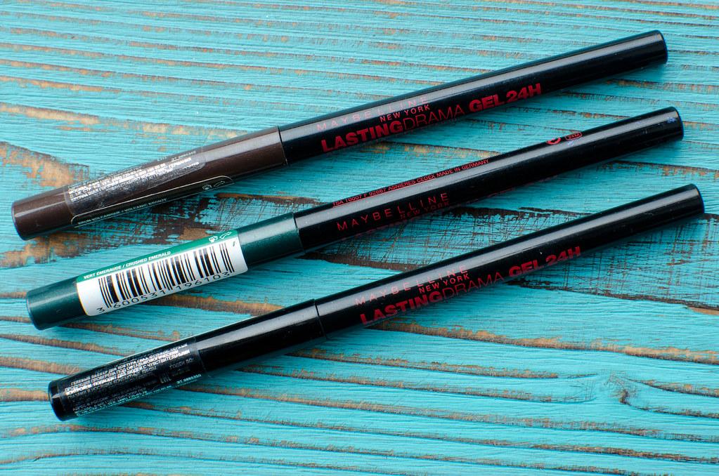 maybelline автоматический гелевый карандаш lasting drama gel