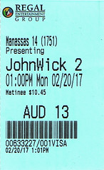 John Wick Chapter 2 ticketstub