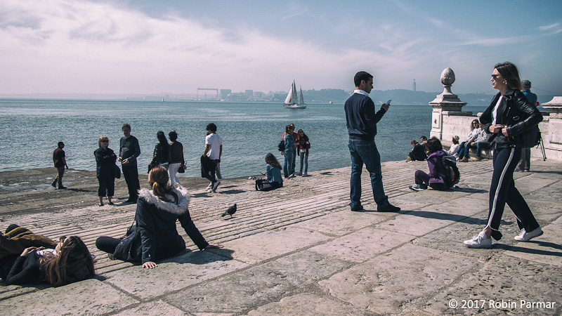 sunning on the Terreiro do Pa�o, Lisbon