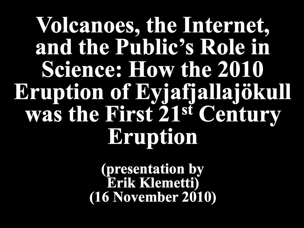 Volcanoes, the Internet, and the Public\'s Role in Science:… | Flickr