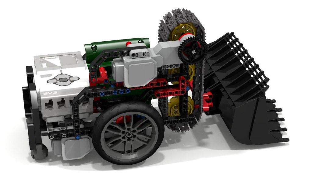 "Lego ""Fllying Lobster"" EV3 Robot with Volvo Bucket | Flickr"