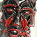 red mask sculpture