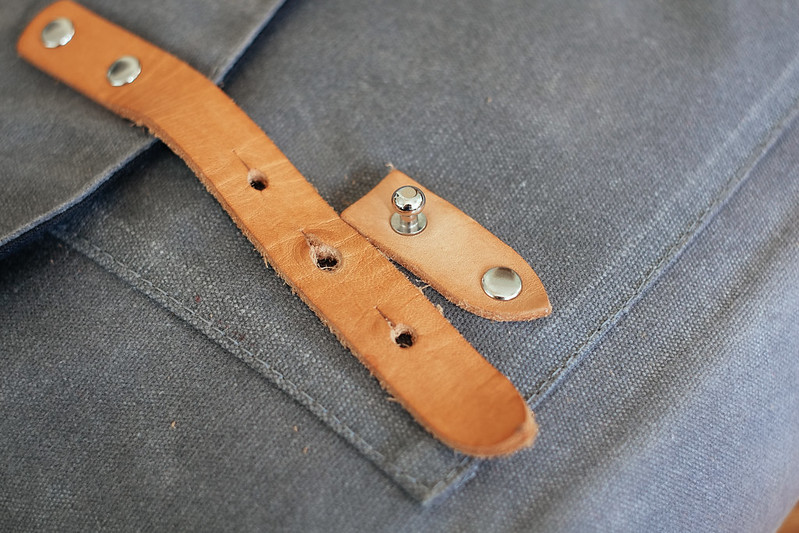Ugmonk Messenger Bag patina front strap