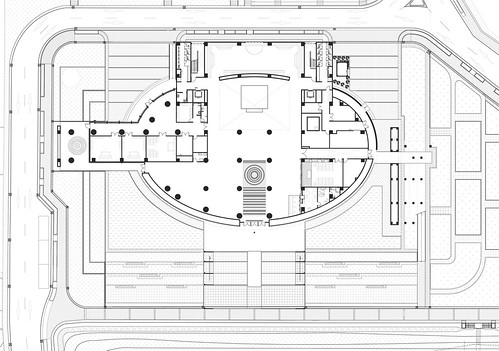 趙建銘建築師事務所 - 旗津生命紀念館 - Drawings 03 - Plan 1F 平面圖 | by 準建築人手札網站 Forgemind ArchiMedia