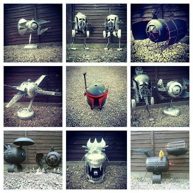 Geeky recycled burners, firepits and BBQs by Caddyshack Creations
