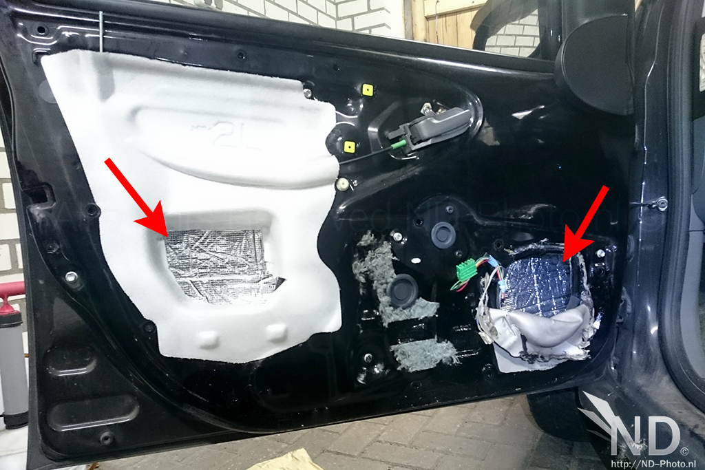 Toyota Aygo Sound Insulation in door