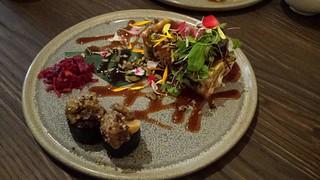 Raw Vegan Okinomiyaki at Neko Neko