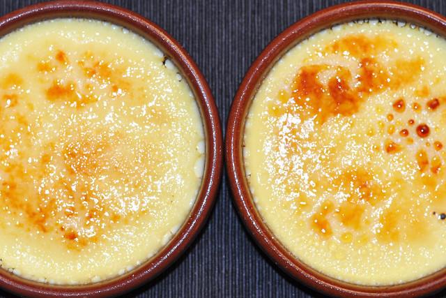 Pochierte Creme - Crème Brûlée - Karamellcreme - karamellisieren - Brenner - Dessert - Lieblingsdesserts - Fotos und Collagen: Brigitte Stolle Mannheim