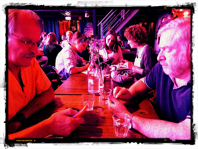 Al & Mikey in the Pink - Pilek, a restaurant of the future made of shipping containers in Amsterdam, Holland