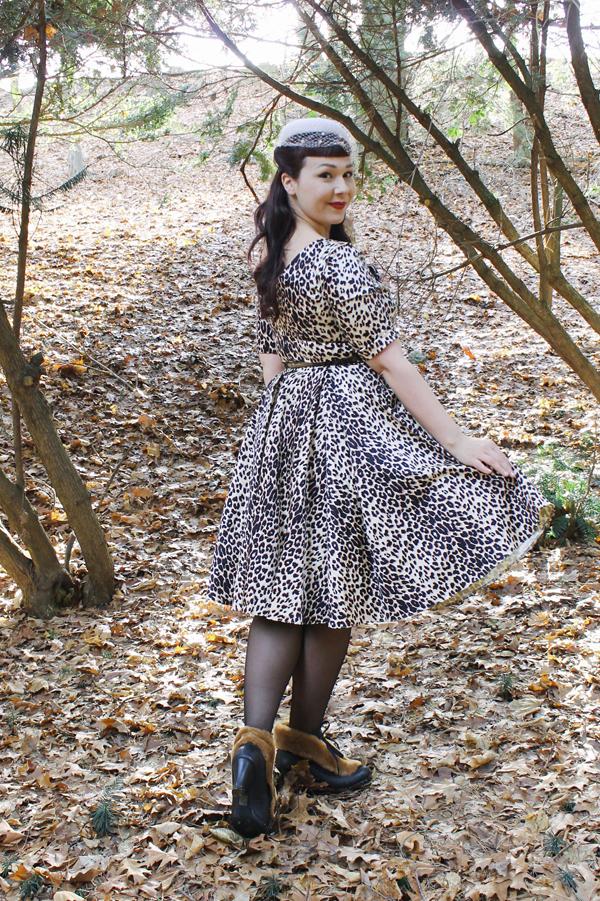 unique vintage hepburn leopard dress