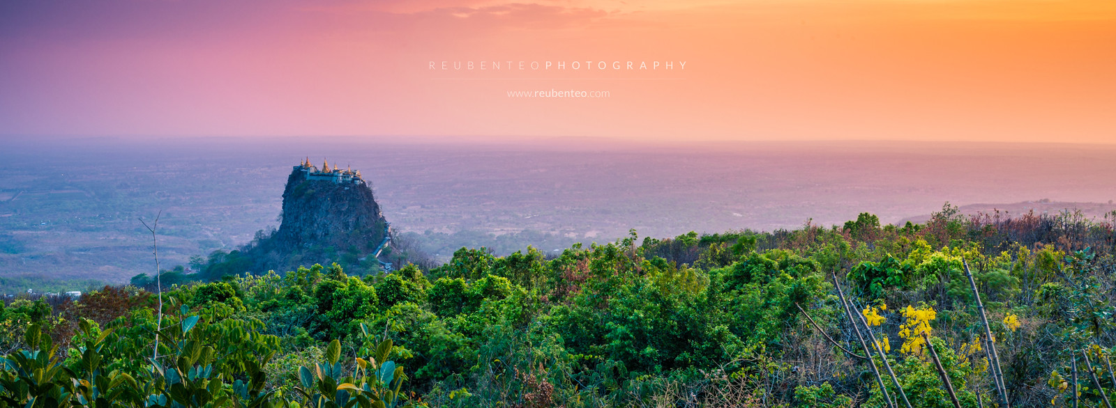 Sunset at Mount Popa