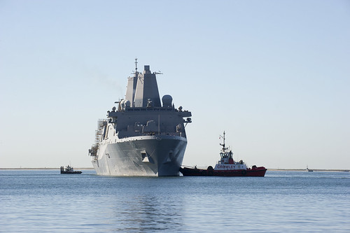 SAN DIEGO - USS San Diego (LPD 22) returns to Naval Base San Diego after an extended maintenance period at BAE Systems San Diego Shipyard.