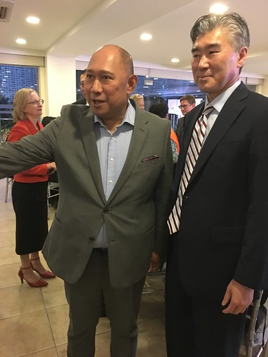 Prof. Dindo Manhit and US Ambassador Sung Kim