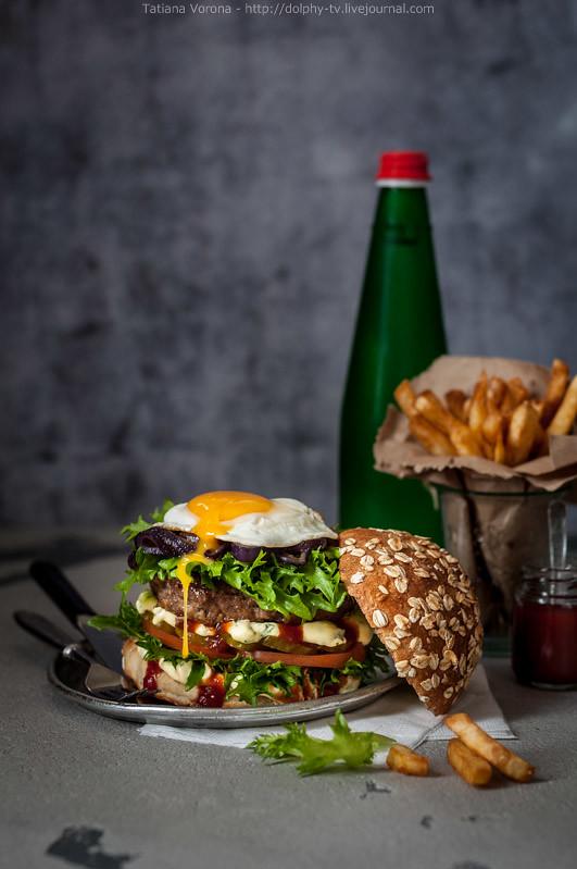 Foodporn Beef Burger, Junk Food