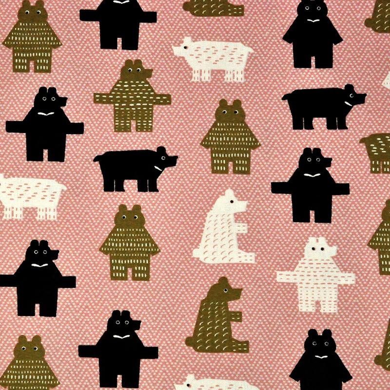 可爱方块熊 可爱动物 手工艺diy拼布布料 cf550560