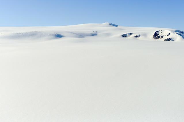 Nieve por los cuatro costados que vimos desde la avioneta en Islandia