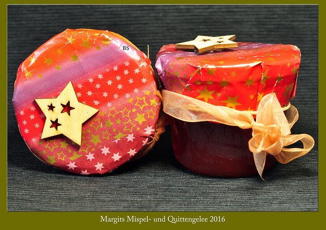 Margits Mispel- und Quittengelee ... Weihnachten 2016 ... Fotos und Collagen: Brigitte Stolle