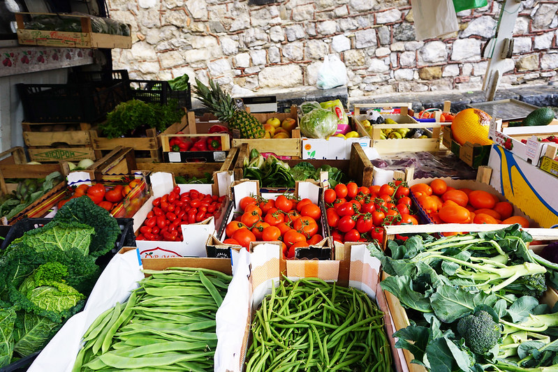 fresh market in sicily