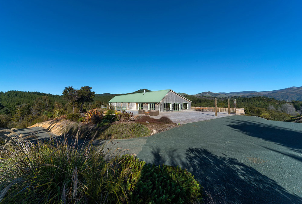 Die Split Apple Lodge am Abel Tasman Nationalpark